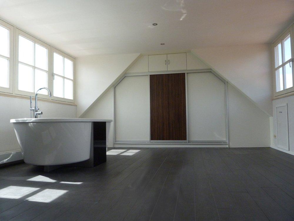 Schuifwand voor badkamer - Projecten - Wim van den Brink & Zn.